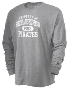 Robert Louis Stevenson Elementary School Pirates  Russell Men's Long Sleeve T-Shirt