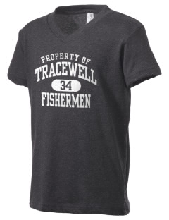 Tracewell fishermen Kid's V-Neck Jersey T-Shirt