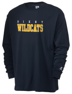 Bixby Elementary School Wildcats  Russell Men's Long Sleeve T-Shirt