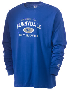 Sunnydale Elementary School Sky Hawks  Russell Men's Long Sleeve T-Shirt