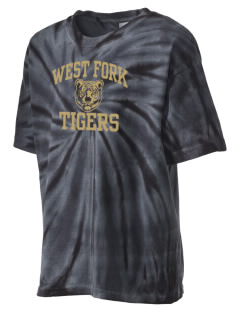 West Fork High School Tigers Kid's Tie-Dye T-Shirt