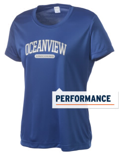 Oceanview Elementary School Unicorns Women's Competitor Performance T-Shirt