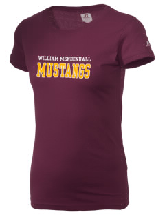 William Mendenhall Middle School Mustangs  Russell Women's Campus T-Shirt