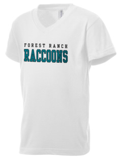 Forest Ranch Elementary School Raccoons Kid's V-Neck Jersey T-Shirt