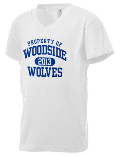 Woodside Elementary School Wolves Kid's V-Neck Jersey T-Shirt