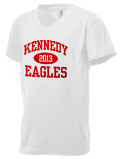 Kennedy High School Eagles Kid's V-Neck Jersey T-Shirt