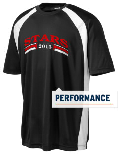 Stege Elementary School Stars Men's Dry Zone Colorblock T-Shirt