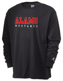 Alamo Elementary School Mustangs  Russell Men's Long Sleeve T-Shirt