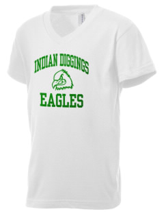 Indian Diggings Elementary School Eagles Kid's V-Neck Jersey T-Shirt