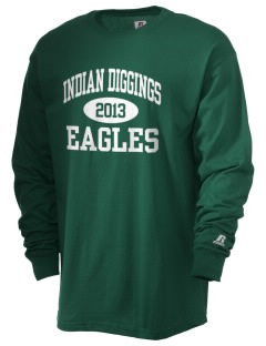 Indian Diggings Elementary School Eagles  Russell Men's Long Sleeve T-Shirt