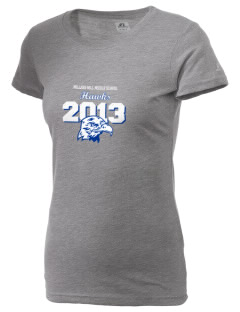 Millers Hill Middle School Hawks  Russell Women's Campus T-Shirt
