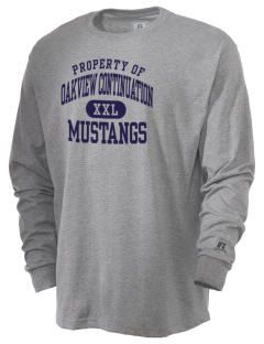Oakview Continuation Senior High School Mustangs  Russell Men's Long Sleeve T-Shirt
