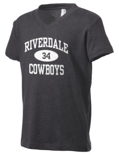 Riverdale High School Cowboys Kid's V-Neck Jersey T-Shirt