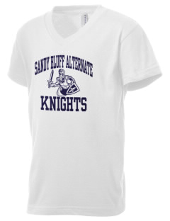 Sandy Bluff Alternate Education Center Knights Kid's V-Neck Jersey T-Shirt