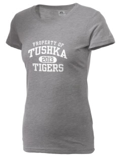 Tushka School Tigers  Russell Women's Campus T-Shirt