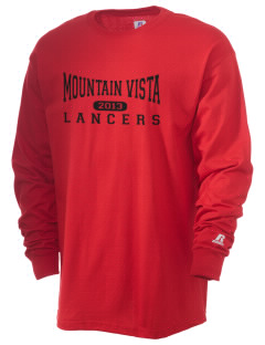 Mountain Vista Middle School Braves  Russell Men's Long Sleeve T-Shirt