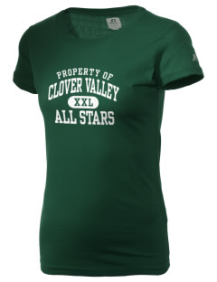 Clover Valley High School All Stars  Russell Women's Campus T-Shirt