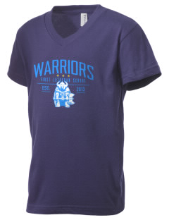 First Lutheran School Warriors Kid's V-Neck Jersey T-Shirt