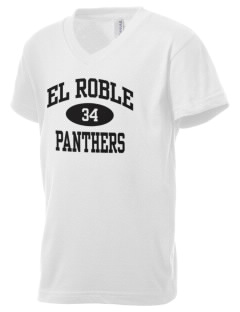 El Roble Intermediate School Panthers Kid's V-Neck Jersey T-Shirt