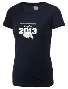 Montebello Intermediate School Eagles  Russell Women's Campus T-Shirt