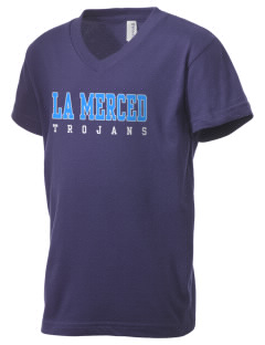 La Merced Intermediate School Trojans Kid's V-Neck Jersey T-Shirt