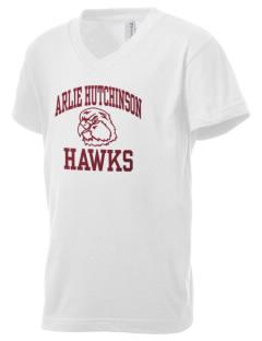 Arlie Hutchinson Middle School Hawks Kid's V-Neck Jersey T-Shirt