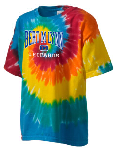 Bert M Lynn Middle School Leopards Kid's Tie-Dye T-Shirt
