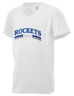 Rancho Vista Elementary School Rockets Kid's V-Neck Jersey T-Shirt