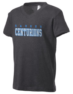 Saugus High School Centurions Kid's V-Neck Jersey T-Shirt