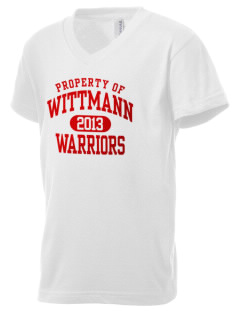 Wittmann Elementary School Warriors Kid's V-Neck Jersey T-Shirt