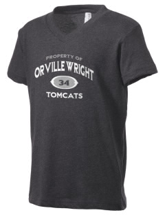 Orville Wright Middle School Tomcats Kid's V-Neck Jersey T-Shirt
