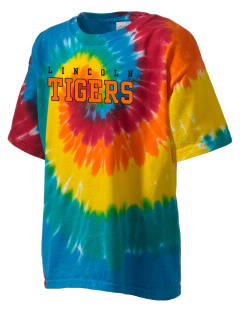 Lincoln High School Tigers Kid's Tie-Dye T-Shirt