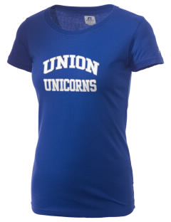 Union Elementary School Unicorns  Russell Women's Campus T-Shirt