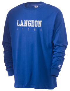 Langdon Elementary School Lions  Russell Men's Long Sleeve T-Shirt
