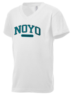 Noyo High School Mustangs Kid's V-Neck Jersey T-Shirt