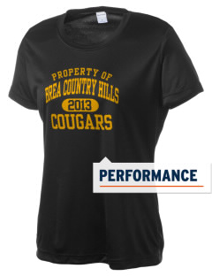 Brea Country Hills Elementary School Cougars Women's Competitor Performance T-Shirt