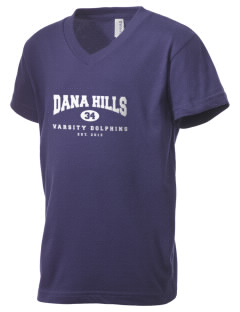 Dana Hills High School Dolphins Kid's V-Neck Jersey T-Shirt