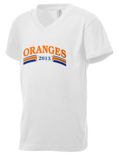 Valencia Elementary School Oranges Kid's V-Neck Jersey T-Shirt