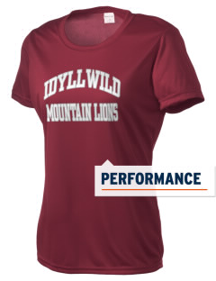 Idyllwild School Mountain Lions Women's Competitor Performance T-Shirt