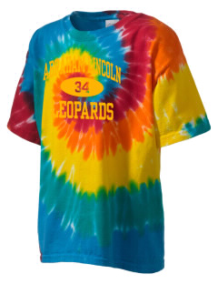 Abraham Lincoln Elementary School Leopards Kid's Tie-Dye T-Shirt