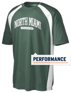 North Miami High School Pioneers Men's Dry Zone Colorblock T-Shirt