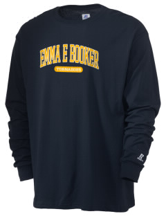 Emma E Booker Elementary School Tornadoes  Russell Men's Long Sleeve T-Shirt