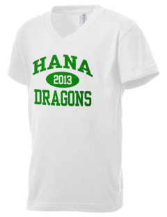 Hana High School Dragons Kid's V-Neck Jersey T-Shirt