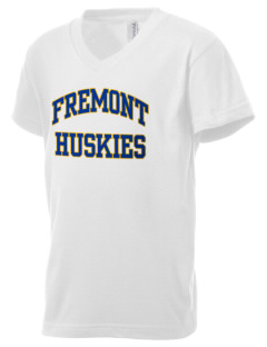 Fremont Elementary School Huskies Kid's V-Neck Jersey T-Shirt