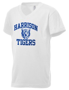 Harrison Elementary School Tigers Kid's V-Neck Jersey T-Shirt