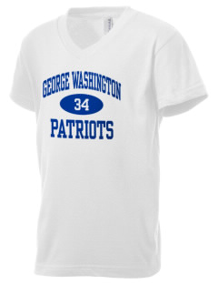 George Washington Elementary School Patriots Kid's V-Neck Jersey T-Shirt