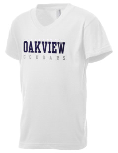 Oakview Community School Cougars Kid's V-Neck Jersey T-Shirt