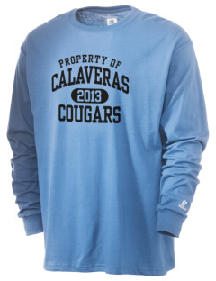 Calaveras Elementary School Cougars  Russell Men's Long Sleeve T-Shirt