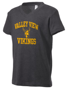 Valley View High School Vikings Kid's V-Neck Jersey T-Shirt