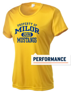 Milor Continuation Senior High School Mustangs Women's Competitor Performance T-Shirt